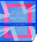 Public Relations in Britain Book