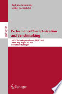 Performance Characterization and Benchmarking