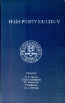 Proceedings of the Fifth International Symposium on High Purity Silicon
