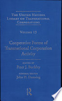 Cooperative Forms Of Transnational Corporation Activity