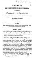 Archéologie biblique. Notice sur le Livre d'Enoch retrouvé en Abyssinie, et traduction des premiers chapitres