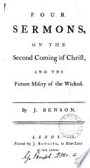 Four Sermons  on the Second Coming of Christ