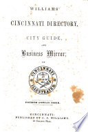 Williams  Cincinnati Directory  City Guide and Business Mirror Book