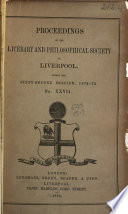 Proceedings of the Literary   Philosophical Society of Liverpool