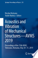 Acoustics And Vibration Of Mechanical Structures Avms 2019 Book PDF