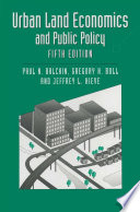 Urban Land Economics And Public Policy