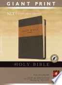 """Holy Bible: New Living Translation, Leather Like Brown/Tan, Giant Print, Thumb Indexed"" by Tyndale"