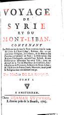 Voyage de Syrie et du Mont-Liban