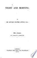 Night and morning     Copyright edition