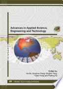Advances in Applied Science, Engineering and Technology