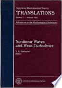 Nonlinear Waves And Weak Turbulence Book PDF