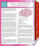 DSM 5 Abnormal Psychology  Speedy Study Guides