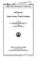 Soil Survey of Gates County  North Carolina