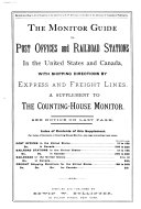 The Monitor Guide to Post Offices and Railroad Stations in the United States and Canada