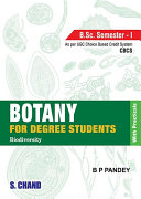 Botany for Degree Students (For B.Sc. 1st Semester, As per CBCS)