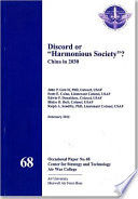 Discord Or Harmonious Society
