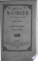 Macbeth Trag  die en cinq actes en vers d apr  s Shakspeare  Shakespeare