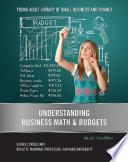 Understanding Business Math   Budgets