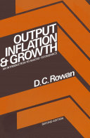 Output  Inflation   Growth  An Introduction to Macro Economics