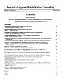 Journal of Applied Rehabilitation Counseling Book