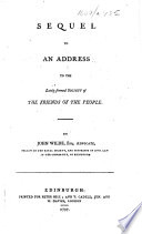 Sequel to an address to the lately formed Society of the Friends of the People