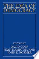 The Idea Of Democracy Book