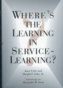 Where Is The Learning In Service Learning