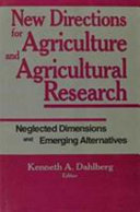 New Directions for Agriculture and Agricultural Research Book