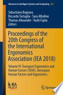 Proceedings Of The 20th Congress Of The International Ergonomics Association Iea 2018