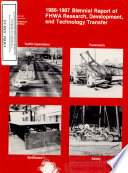 FHWA Research  Development  and Technology Transfer  Biennial Report  1986 1987