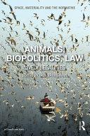 Animals, Biopolitics, Law