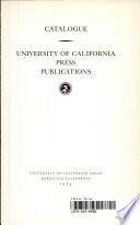 University of California Press Publications
