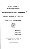 Annual Report   Mississippi State Board of Health