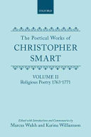 Christopher Smart Books, Christopher Smart poetry book