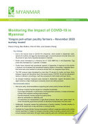 Monitoring the impact of COVID-19 in Myanmar: Yangon peri-urban poultry farmers - November 2020 survey round