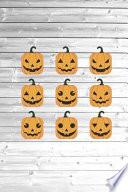 Halloween Pumpkin Faces - Happy Halloween Journal