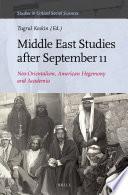 Middle East Studies After September 11