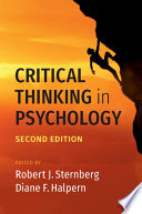 Critical Thinking in Psychology Book