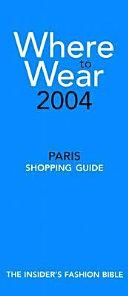 Where to Wear Book PDF