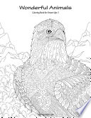 Wonderful Animals Coloring Book for Grown Ups 1