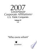 Directory of Corporate Affiliations