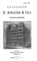 Catalogue of D  Appleton   Co  s Publications