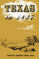 Texas in 1837 [Pdf/ePub] eBook