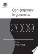 Contemporary Ergonomics 2009 Book