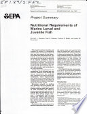 Nutritional Requirements of Marine Larval and Juvenile Fish Book