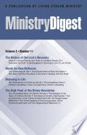Ministry Digest Vol 02 No 11