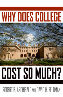 Why Does College Cost So Much? Pdf/ePub eBook