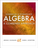 Elementary and Intermediate Algebra: A Combined Approach [Pdf/ePub] eBook