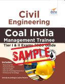 (Free Sample) Civil Engineering Coal India Management Trainee Tier I & II Exam 2020 Guide Pdf/ePub eBook