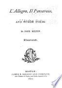L allegro  Il Penseroso  and Other Poems